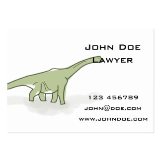 Green Dinosaur, Digital Illustration Pack Of Chubby Business Cards