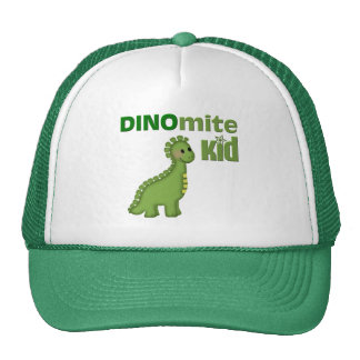 Green Dinosaur Dinomite Kid Mesh Hat