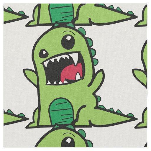 Green Dinosaur fabric