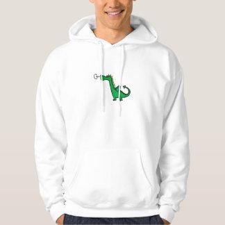 Green Dinosaur Sweater Hooded Sweatshirts