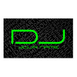 Green DJ Business Card with Cool Background