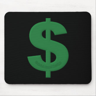 Green Dollar Sign Mouse Pad