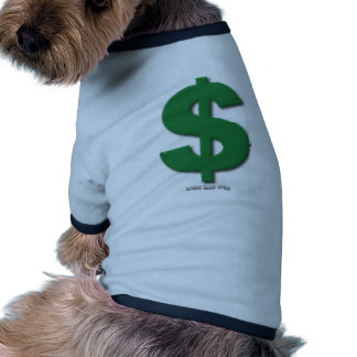 Green Dollar Sign with Beveled Style Dog Clothes