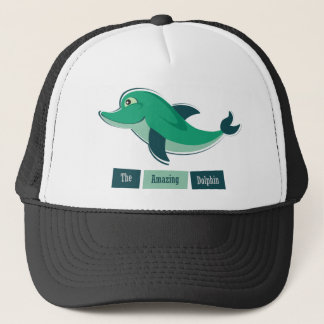 Green Dolphin Trucker Hat