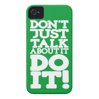 Green don't just talk do it iphone barely case Case-Mate iPhone 4 case