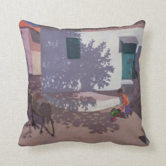 Green Door and Shadows Lesbos 1996 Cushion