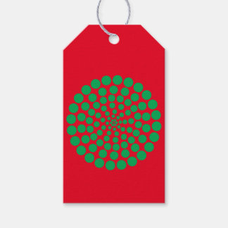 GREEN DOT PRINT. CUSTOMIZABLE BACKGROUND COLOUR. GIFT TAGS