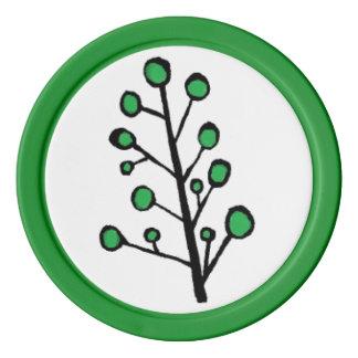 Green Dot Tree Poker Chips