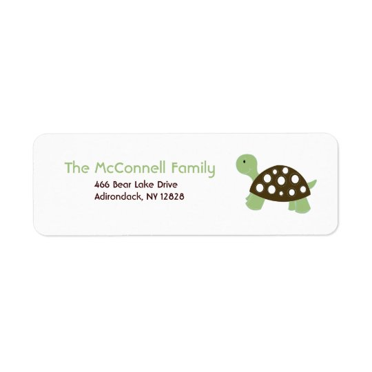 GREEN DOT TURTLE PRINTABLE ADDRESS LABELS
