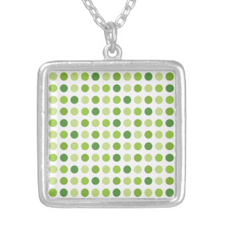 Green Dotted Pendants