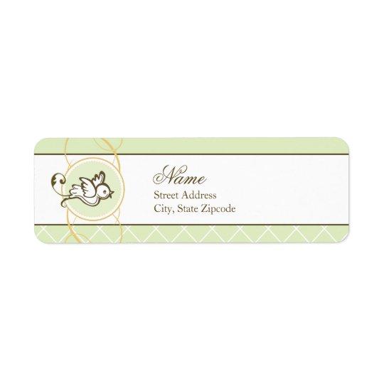 Green Dove Return Address Label