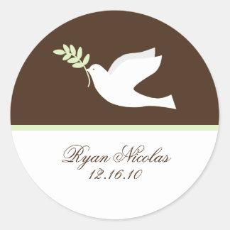 Green Dove Stickers