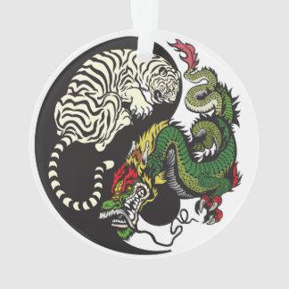 green dragon and white tiger yin yang symbol