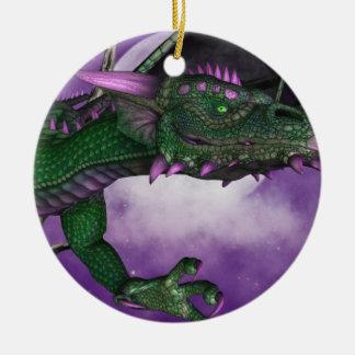 Green Dragon Christmas Ornament