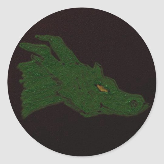 Green Dragon Classic Round Sticker