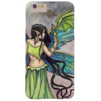 Green Dragon Fairy Fantasy Art Artwork Fairies Barely There iPhone 6 Plus Case