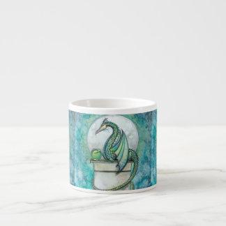Green Dragon Fantasy Art Espresso Mugs