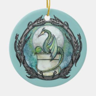 Green Dragon Fantasy Art Ornament