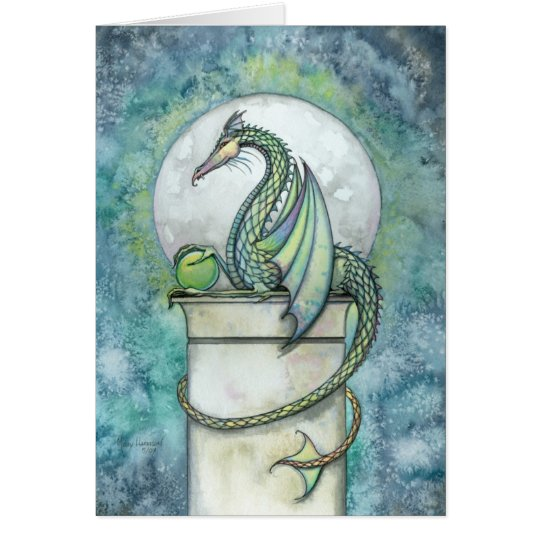 Green Dragon Fantasy Greeting Card