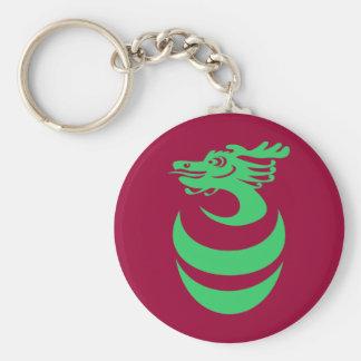 Green Dragon in Egg Keychain