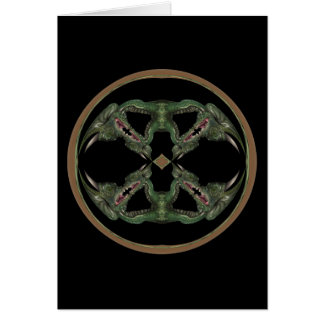 Green Dragon Kaleidoscope Card