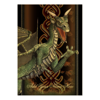 Green Dragon Luxury Gold Profile Card Pack Of Chubby Business Cards
