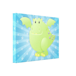 Green Dragon Monster Gallery Wrap Canvas