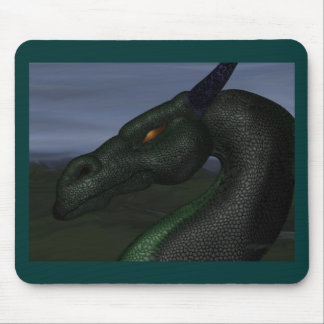 green-dragon mouse pad