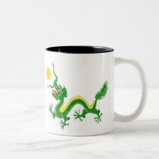 Green dragon Two-Tone mug