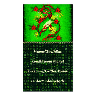 Green Dragon Pack Of Standard Business Cards