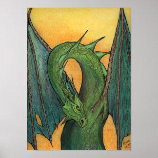 Green Dragon Poster