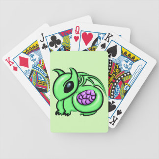 Green Dragon, Purple Dragon Egg Bicycle Playing Cards