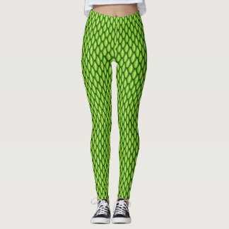 Green Dragon Scale Leggings