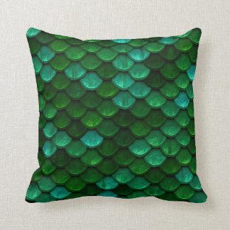 Green Dragon Scale Pillow Cushion