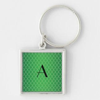 Green dragon scales monogram keychains
