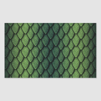 Green Dragon Scales Rectangular Sticker