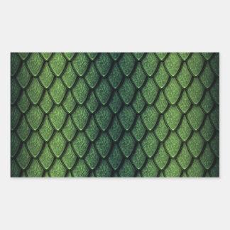 Green Dragon Scales Rectangular Sticker
