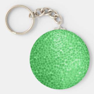 Green dragon skin, looks like dinosaur leather! basic round button key ring