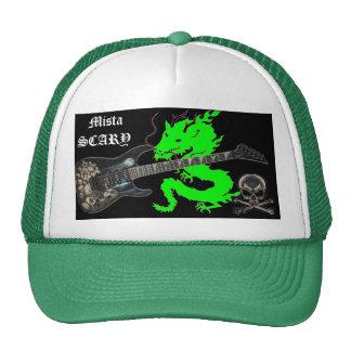 Green Dragon Skull Guitar Crossbone Baseball Hat