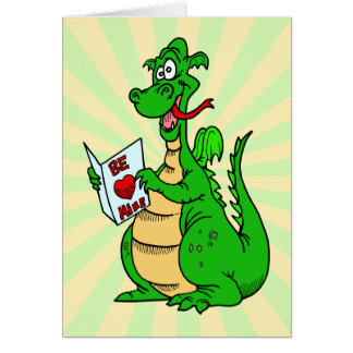 Green Dragon Valentine's Day Card Greeting Cards