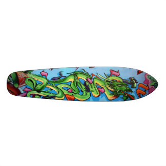 Green Dragon Vectors - Graffiti Streetart Deck Skateboard