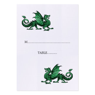 Green Dragon Wedding Place Card Pack Of Chubby Business Cards