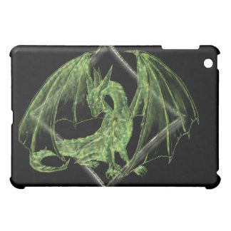 Green Dragon with a Diamond Graphic iPad Cover