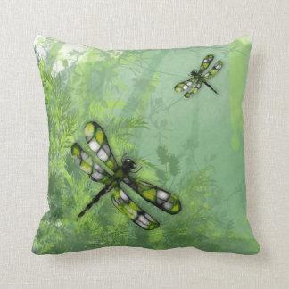 Green Dragonflies American MoJo Pillow