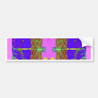 Green Dragonflies Pink Moon Garden by Sharles Bumper Sticker