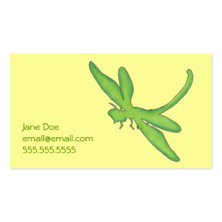 Green Dragonfly Calling Card Pack Of Standard Business Cards