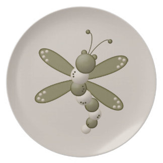 Green Dragonfly Plate