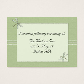 Green dragonfly Wedding enclosure cards