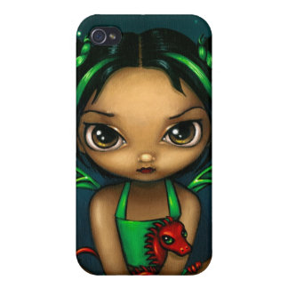 """Green Dragonling"" iPhone 4 Case"