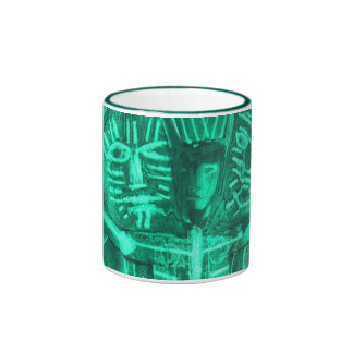green dream ritual ringer coffee mug